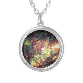 Fantasy Starry Forest 3 Silver Plated Necklace
