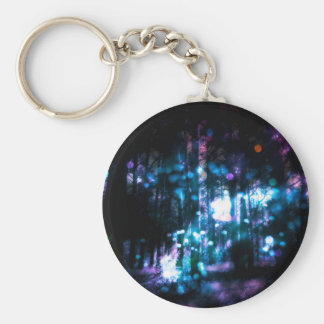 Fantasy Starry Forest 4 Basic Round Button Key Ring
