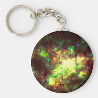 Fantasy Starry Forest 6 Basic Round Button Key Ring