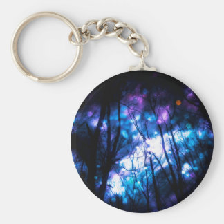 Fantasy Starry Forest 7 Basic Round Button Key Ring