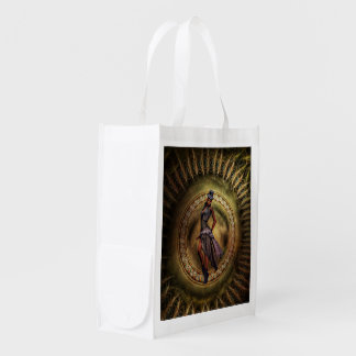 fantasy Steampunk Lady B Reusable Grocery Bag