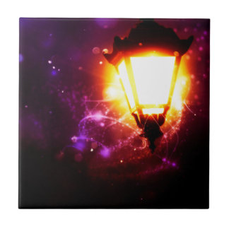 Fantasy Street Lamp Ceramic Tile
