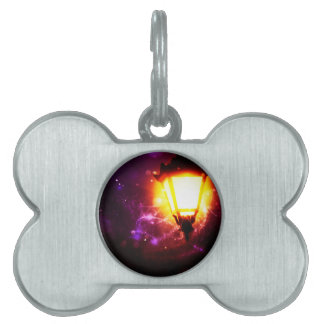 Fantasy Street Lamp Pet ID Tag