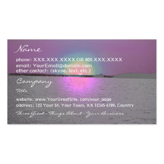 Fantasy Sunset (2)- business card template