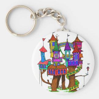 Fantasy Treehouse Key Ring