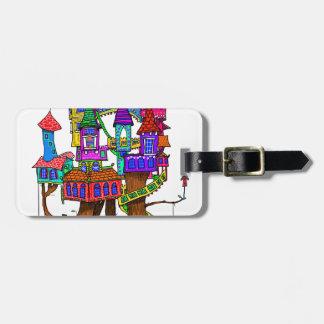Fantasy Treehouse Luggage Tag
