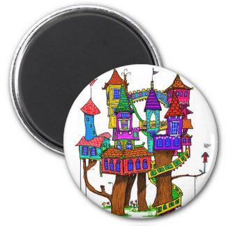 Fantasy Treehouse Magnet