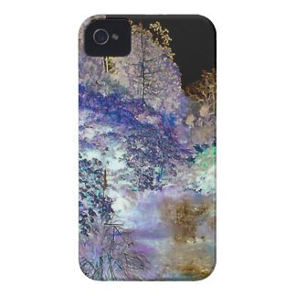 Fantasy Trees Abstract Landscape Case-Mate iPhone 4 Cases