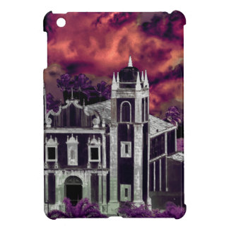 Fantasy Tropical Cityscape Aerial View iPad Mini Cover
