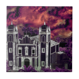 Fantasy Tropical Cityscape Aerial View Tile