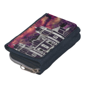 Fantasy Tropical Cityscape Aerial View Wallets