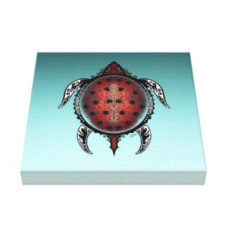 Fantasy Turtle Tattoo Canvas Print
