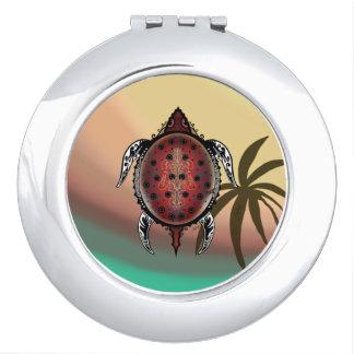 Fantasy Turtle Tattoo Compact Mirrors