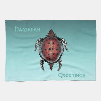 Fantasy Turtle Tattoo Tea Towel