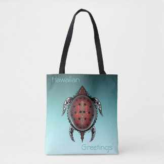 Fantasy Turtle Tattoo Tote Bag