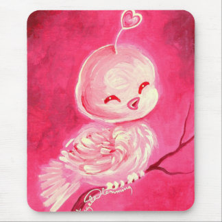 Fantasy Valentine Love Bird Mouse Pad