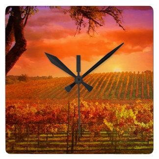 Fantasy Vineyard Clock