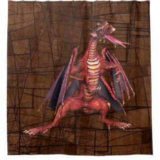 Fantasy Winged Dragon Shower Curtain