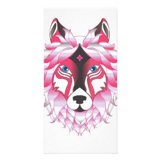 Fantasy Wolf Animal Customised Photo Card