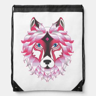 Fantasy Wolf Animal Drawstring Bag