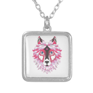 Fantasy Wolf Animal Silver Plated Necklace