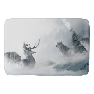 Fantasy Wolf Bath Mat