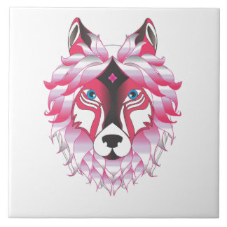 Fantasy Wolf Large Square Tile