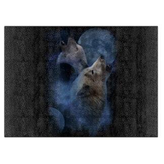 Fantasy Wolf Moon Mountain Cutting Board