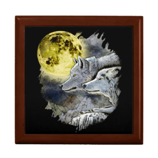 Fantasy Wolf Moon Mountain Gift Box