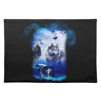 Fantasy Wolf Moon Mountain Placemat