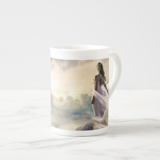 Fantasy Woman and Island Castle in the Clouds Tea Cup