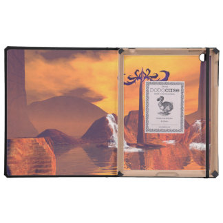 Fantasy world with waterfall iPad cover