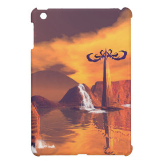 Fantasy world with waterfall case for the iPad mini
