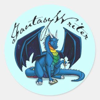Fantasy Writer Round Sticker