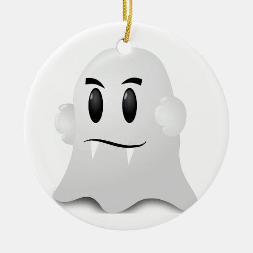 Fantôme Halloween Round Ceramic Decoration  Zazzle