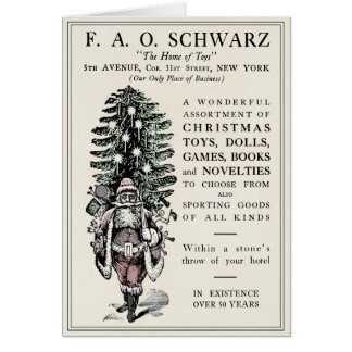 FAO SCHWARZ VINTAGE CHRISTMAS ADVERTISEMENT CARD