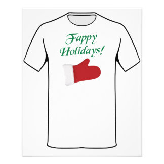 Fappy Holidays Christmas Glove 11.5 Cm X 14 Cm Flyer