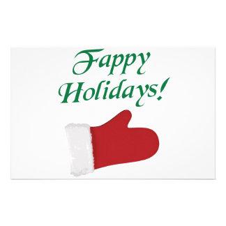 Fappy Holidays Christmas Glove Customised Stationery