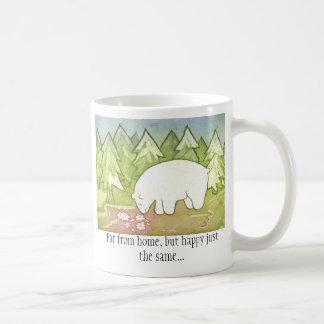 Far from home 1 side. basic white mug