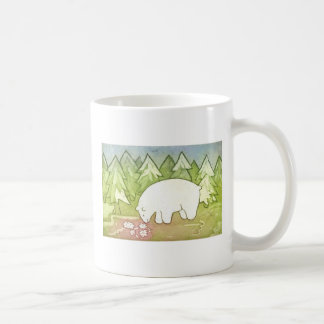 Far from home with 2nd side text basic white mug