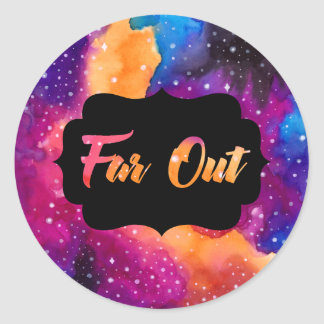 Far Out Cosmic Sky Classic Round Sticker