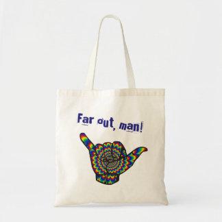 Far out, man! tote bag