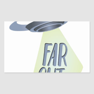 Far Out Rectangular Sticker