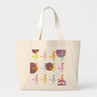 Far Out Runners Large Tote Bag