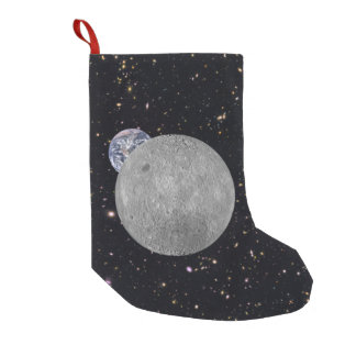 Far Side of the Moon Earth Starry Sky Small Christmas Stocking
