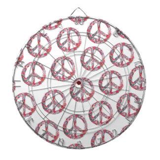 Far Too Pretty Floral Peace Symbols Dart Boards