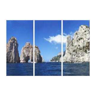 Faraglioni Capri Canvas Print