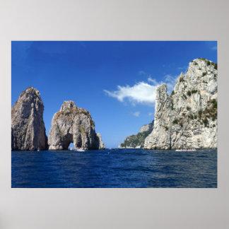Faraglioni Capri Poster