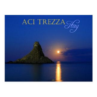 Faraglioni of Aci Trezza in Sicily, Italy Postcard