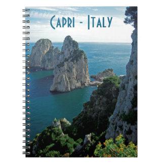 Faraglioni Stacks, Isle of Capri - Naples - Italy Notebook